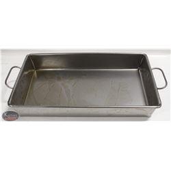 NEW JOHNSON ROSE STRAPPED STEEL ROASTING PAN