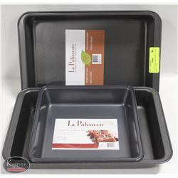 """LOT OF 4 NEW CAKE PANS. 2 - 13"""" X 9"""" & 2 - 9"""" X 9"""""""