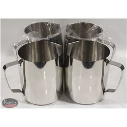 CASE OF 4 NEW JOHNSON ROSE 48 OZ FROTHING PITCHERS