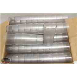 BOX OF APPROX. 120 CAMBRO 12OZ PLASTIC TUMBLERS