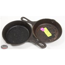 """LOT OF TWO 6"""" CAST IRON SKILLETS"""