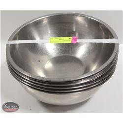 """8 GOOD QUALITY 11"""" STAINLESS STEEL MIXING BOWLS"""