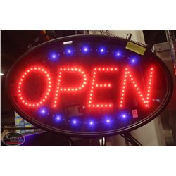 """LIGHT-UP """"OPEN"""" SIGN * TESTED & WORKING"""