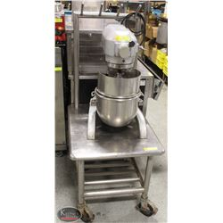 STAINLESS STEEL EQUIPMENT STAND ON CASTORS