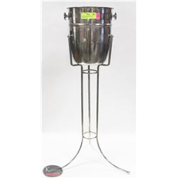 S/S WINE CHILLER SERVER W/ CHROME STAND