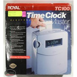 NEW TIME MASTER TC 100 ELECTRONIC TIMECLOCK