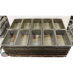 LOT OF TEN 5-LOAF STRAPPED BREAD PANS