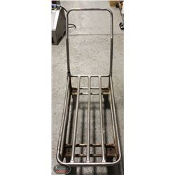 CHROME-TUBE CART ON CASTORS W/ DETACHABLE HANDLE
