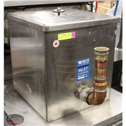 "STAINLESS STEEL GREASE TRAP 16"" X 16"" X 17"""