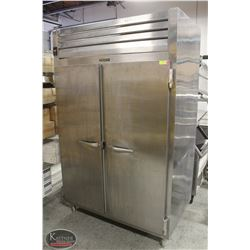TRAULSEN SOLID STAINLESS STEEL DUAL-DOOR UPRIGHT