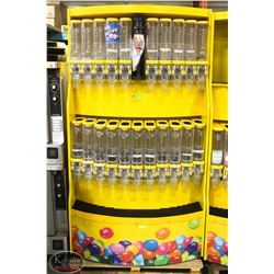 LARGE BULK CANDY DISPLAY MERCHANDISER W/ BULK BINS