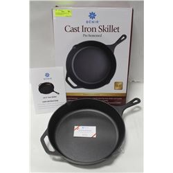 "NEW BENIR PROFESSIONAL 12.5"" CAST IRON SKILLET"