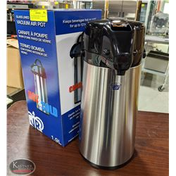 NEW JOHNSON ROSE 1.9 LITRE S/S GLASS LINED AIRPOT