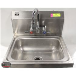 S/S WALLMOUNT PERSONAL RINSING SINK W/ FAUCET