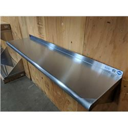 "JOHNSON ROSE 12"" X 48"" STAINLESS STEEL WALL SHELF"