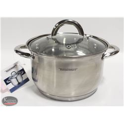 NEW 2L KAISERHOFF INDUCTION CAPABLE POT W/ LID