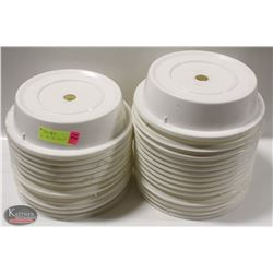 """STACK OF 26 PLASTIC PLATE COVERS- 8"""""""