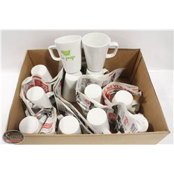 LOT OF ASSORTED 12OZ COFFEE CUPS