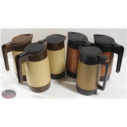 LOT OF 6 PLASTIC COFFEE SERVERS