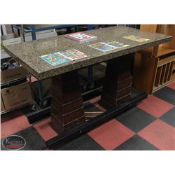 GRANITE TOP BAR HEIGHT DINING TABLE