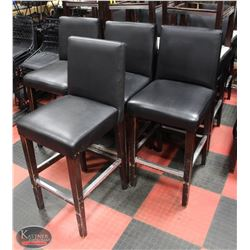 LOT OF 16 LEATHERETTE BAR HEIGHT CHAIRS
