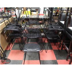 LOT OF 12 METAL DINING CHAIRS W/ ARMRESTS