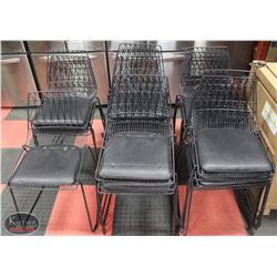LOT OF 20 STACKING METAL CHAIRS