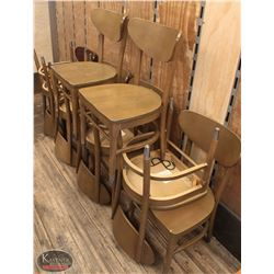 LOT OF 10 WOOD DINING CHAIRS INCL: 1 MISMATCHED