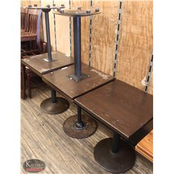 """LOT OF 7 SQUARE DINING TABLES 23.5""""X23.5""""X29"""""""