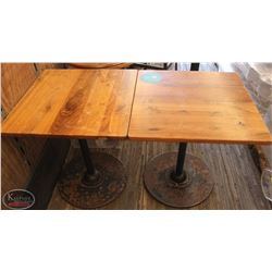 """LOT OF 2 SQUARE WOOD DINING TABLES 24""""X24""""X29"""""""