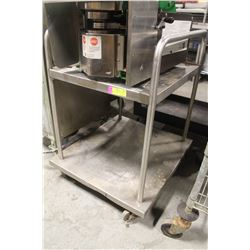 2-TIER S/S COMMERCIAL CART W/ HANDLES