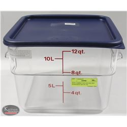 NEW CAMBRO CLEAR 12 QUART INGREDIENT BIN W/ LID