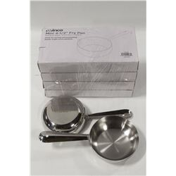 "LOT OF 4 NEW WINCO 4.5"" S/S MINI FRY PANS"