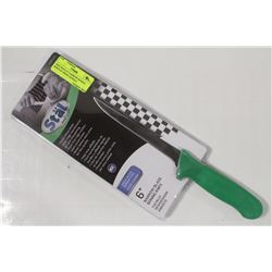 "NEW WINCO 6"" NARROW BONING KNIFE W/ GREEN HANDLE"