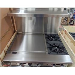 "NEW ICB COMMERCIAL RANGE W/ 24"" GRIDDLE & 2 BURNER"
