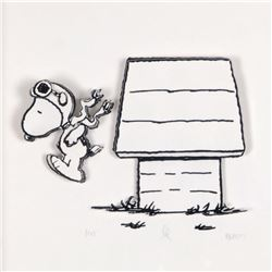 "Peanuts, ""Jump Right In"" Hand Numbered Limited Edition 3D Decoupage with Certificate of Authenticity"