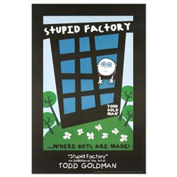 """Stupid Factory, Where Boys Are Made"" Fine Art Litho Poster (24"" x 36"") by Renowned Pop Artist Todd"