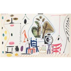 "Pablo Picasso- Lithograph ""Carnet de Californie 28"""