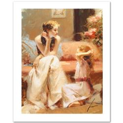 """Pino (1939-2010) """"Thinking of You"""" Limited Edition Giclee. Numbered and Hand Signed; Certificate of"""