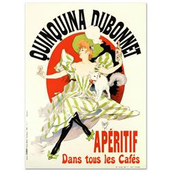 """RE Society, """"Quinquina Dubonnet"""" Hand Pulled Lithograph, Image Originally by Jules Cheret. Includes"""