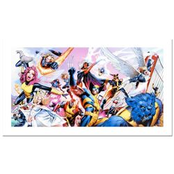 """Stan Lee Signed, """"Uncanny X-Men #500"""" Numbered Marvel Comics Limited Edition Canvas by Greg Land wit"""