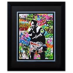 "Nastya Rovenskaya- Original Mixed Media on Paper ""Muhammad Ali"""