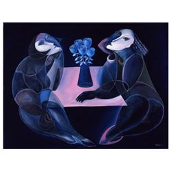 "Yuroz, ""Table Of Negotiation"" Hand Signed Limited Edition Serigraph on Canvas with Certificate of Au"