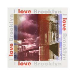 "Steve Kaufman (1960-2010), ""I Love Brooklyn"" Limited Edition Silkscreen on Canvas, Numbered 28/50 an"
