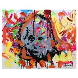 "Nastya Rovenskaya- Mixed Media ""Einstein is Right Again"""