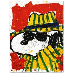 """It's the Hat That Makes the Dude"" Limited Edition Hand Pulled Original Lithograph by Renowned Charl"
