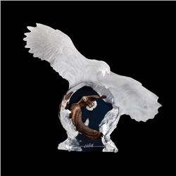 "Christopher Pardell, ""Eagle Spirit"" Limited Edition Mixed Media Lucite Sculpture with COA."