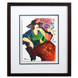 "Patricia Govezensky- Original Mixed Media ""Rofaida"""
