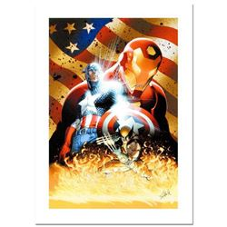 "Stan Lee Signed, ""Civil War #1"" Numbered Marvel Comics Limited Edition Canvas by Michael Turner (197"
