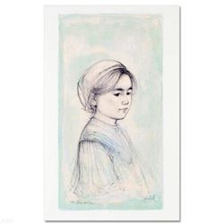 """Ursina"" Limited Edition Lithograph by Edna Hibel (1917-2014), Numbered and Hand Signed with Certifi"